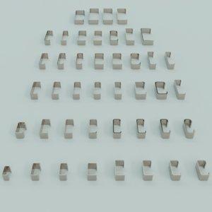 blender c profiles 3D model