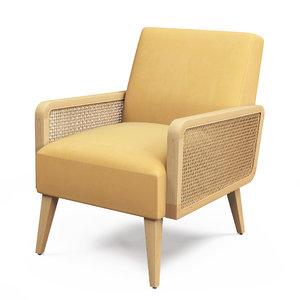 3D criss armchair model