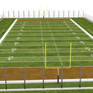 3D field american football