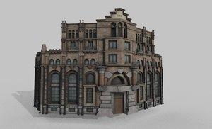 old building barcelona 3D model