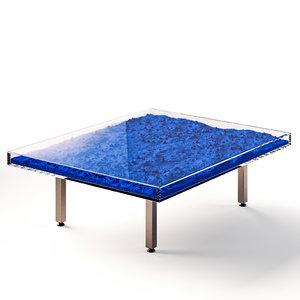 3D model furniture table yves kleins