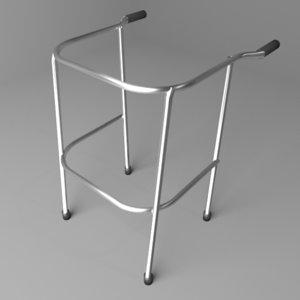 3D back-handler walker model