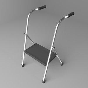3D chair walker model