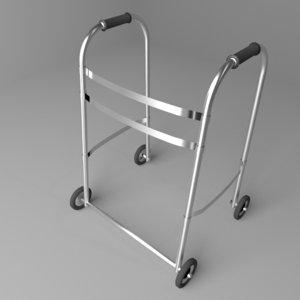 rollator walker 3D