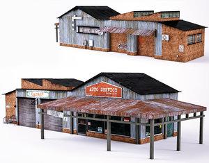 3D suburban auto service model