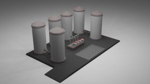 3D water tank fuel plant
