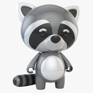 raccoon toy 3D