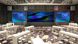 3D hotel meeting room