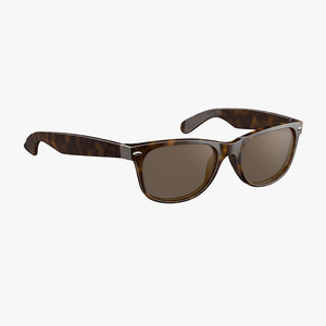 sunglasses classic style brown 3D model