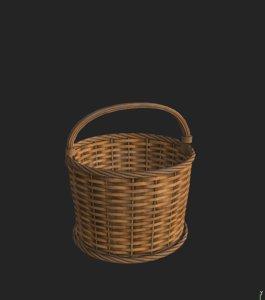 wickerbasket unreal engine 3D model