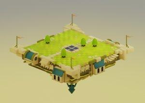 scene arena castle model