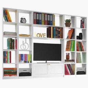 real modern tv cabinet 3D model