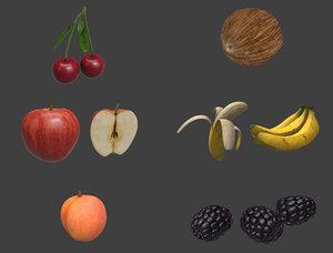 3D model fruit pack 1