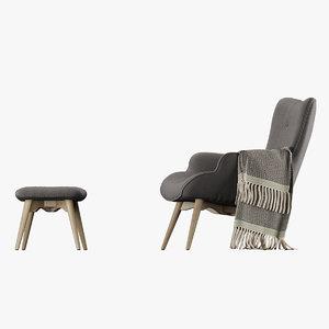 kare vicky ottoman corona chair 3D model
