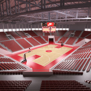 3D basketball stadium model