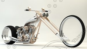 3D punk motorcycles model