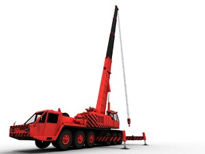 3D kato nk-750 truck crane model
