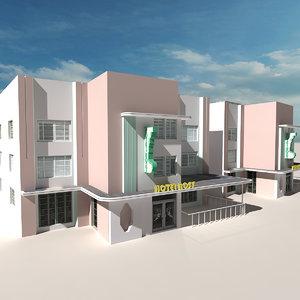 3D beach building 13