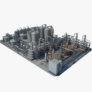 industrial area 15 3D model