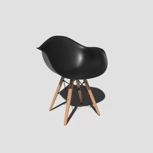 3D model pbr shell chair