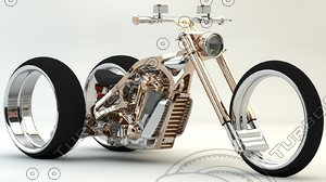 3D tricycle motorcycles model