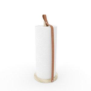 3D kitchen paper holder model