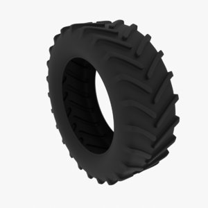 3D tractor tire gameready engines