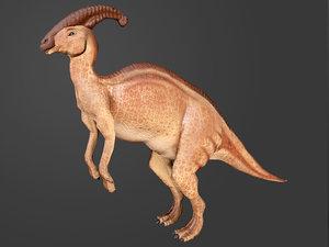 ready parasaurolophus 3D model