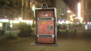 metal security door cyberpunk 3D