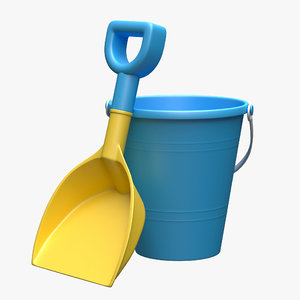 3D bucket shovel