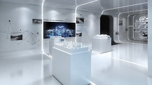 modern hall design 3D model