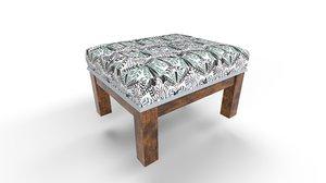 3D model stool cushion