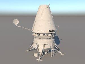 3D landing module model