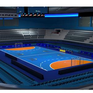 3D handball arena ball model