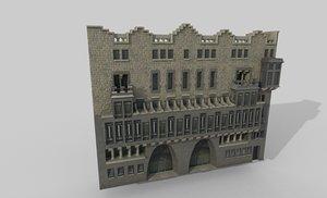 guell palace gaudi 3D model
