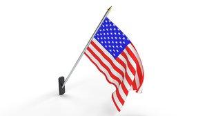 flag american america 3D model