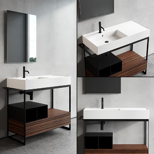 solid vanity unit model