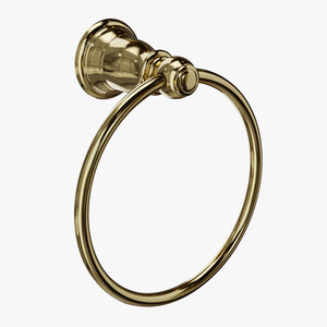 3D classic style towel ring model