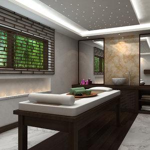 scene spa massage room 3D