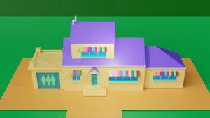 3D oggy house render
