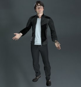 rigged character 3D
