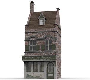3D old dutch house 1