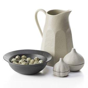 set eggs bowl 3D model