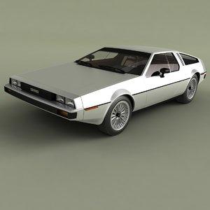 1976 delorean dmc 12 3D model
