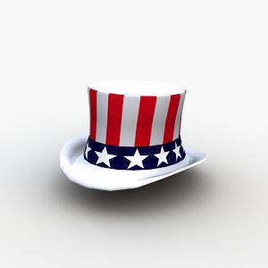 uncle sam hat 3D