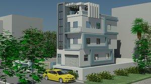 3D 3bhk house exterior
