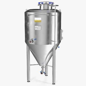 3D brewery fermentation tank brewing model
