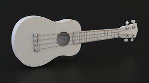 ukulele 3D model