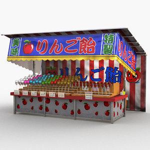 japanese street stall 0007 model