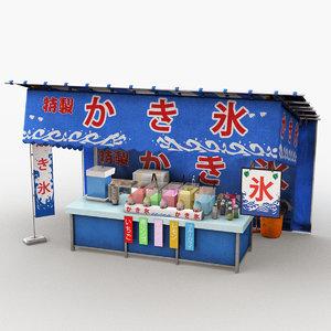 3D japanese street stall 0003